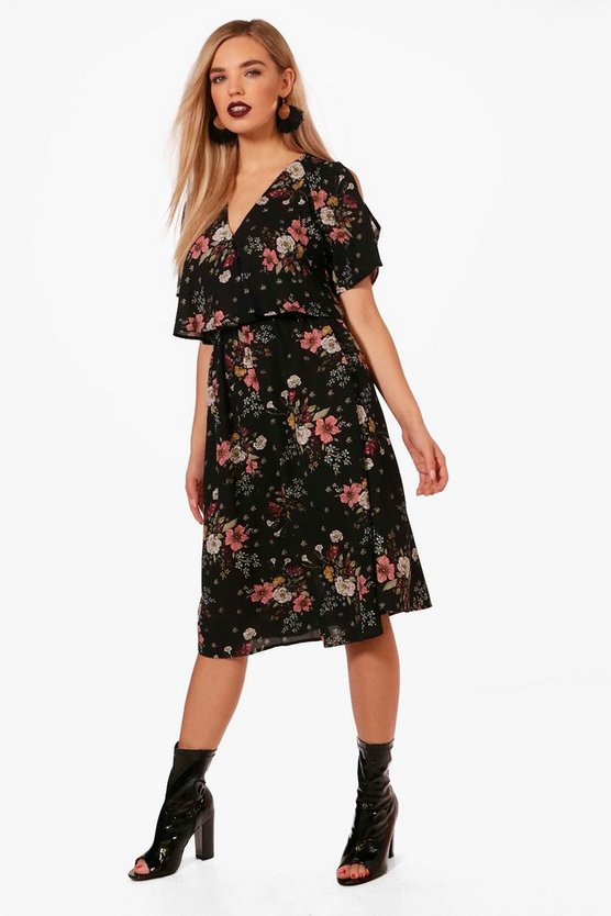 Rosie Wrap Floral Midi Dress