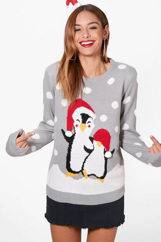 Linda Penguin Christmas Jumper