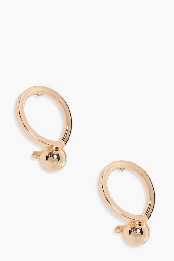 Isabella Ball End Twist Hoop Earrings