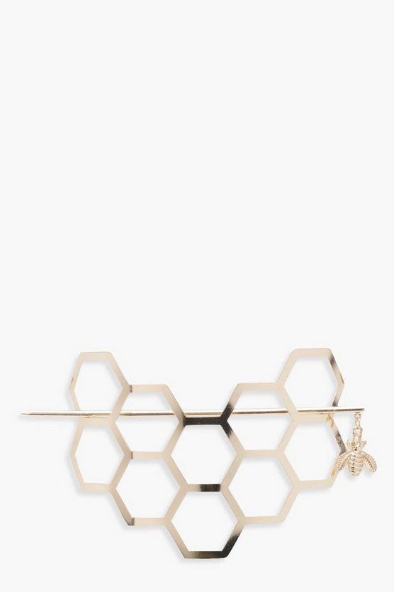 Helena Honeycomb Bee Hair Pin