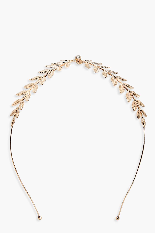 Leaf Centre Headband - gold - Jessica Leaf Centre