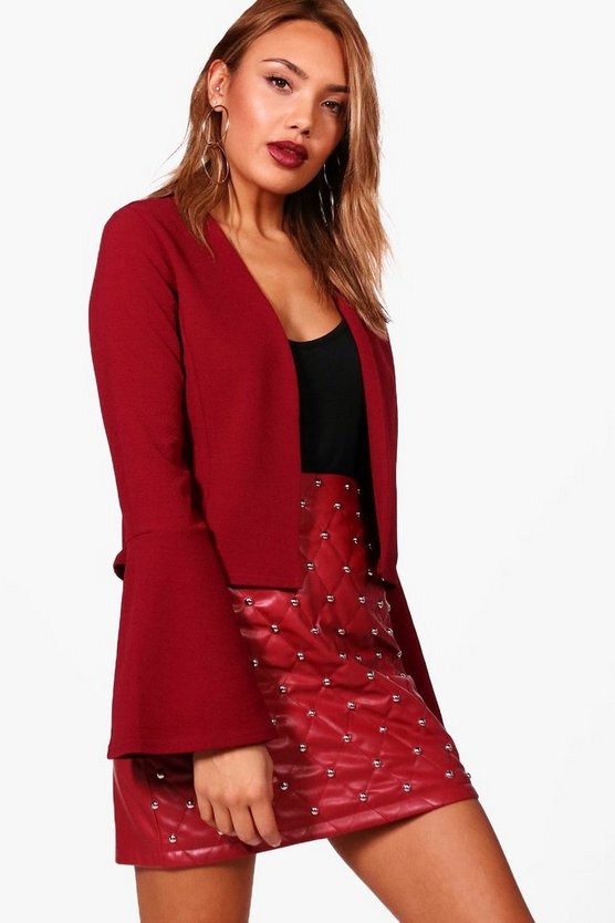 Lauren Frill Sleeve Edge To Edge Blazer