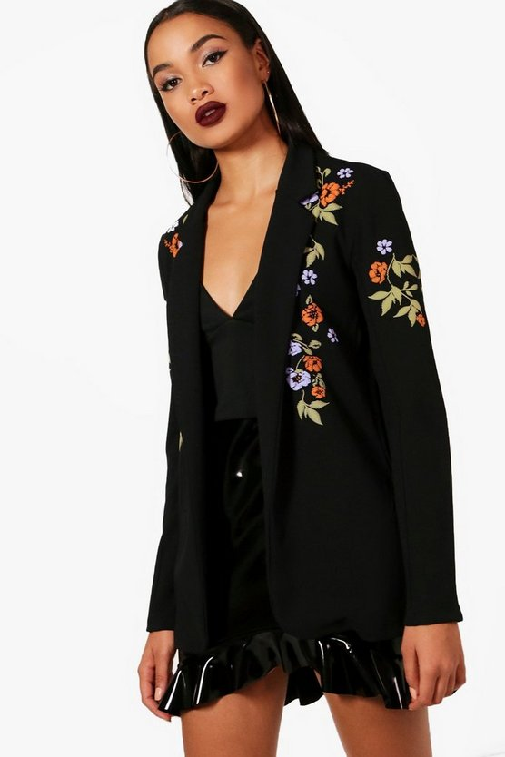 Olivia Embroidered Print Blazer