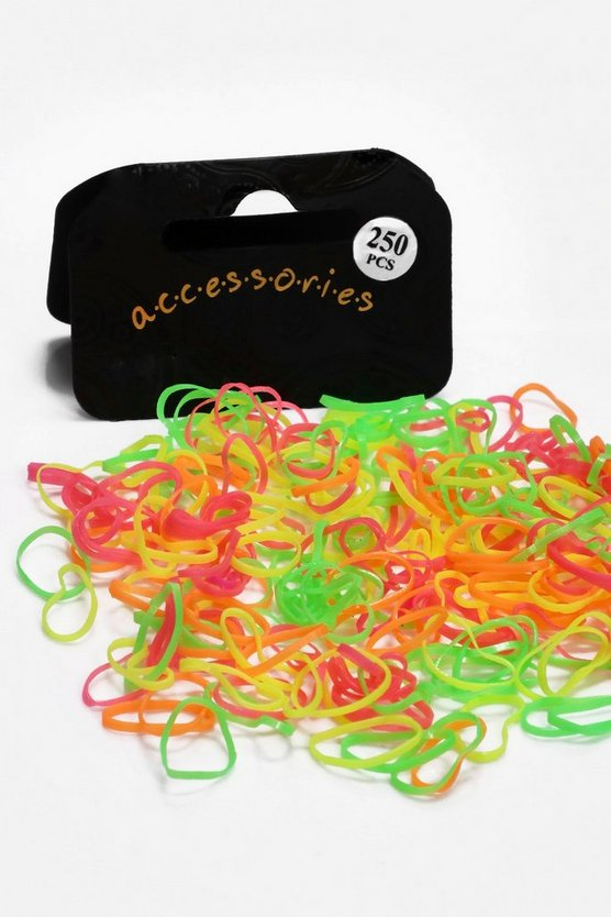 Skye Multi Neon Coloured Mini Elastic Hair Bands