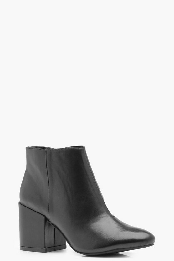 Macy Block Heel Ankle Boot