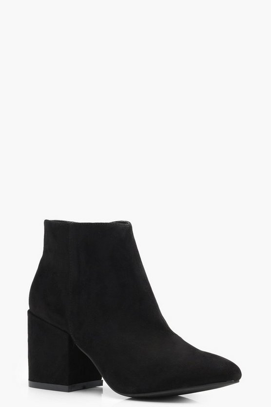 Louise Block Heel Ankle Boots