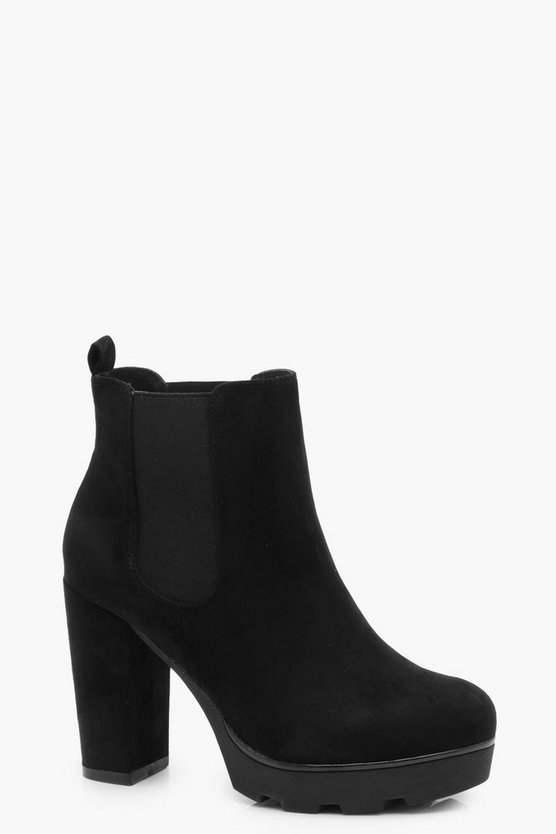 Megan Extreme Cleated Hiker Chelsea Boot