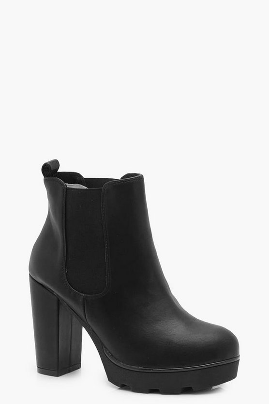 Ellie Extreme Cleated Hiker Chelsea Boots