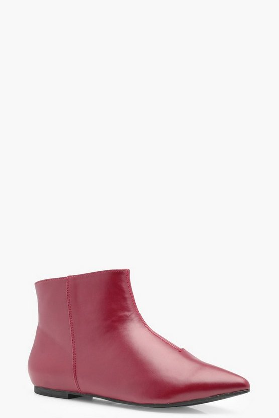Lilly Pointed Toe Low Ankle Boots