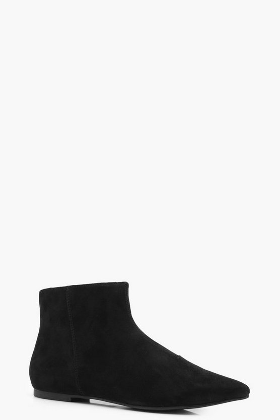 Holly Pointed Toe Low Ankle Boots