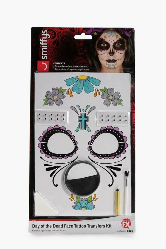 Day of the Dead Colour Tattoo Transfer Kit