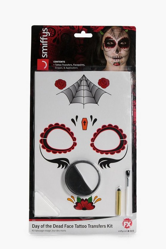 Day of the Dead Tattoo Transfer Kit