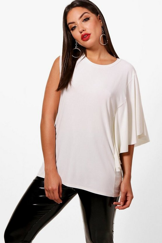 Ruffle One Sleeve Top