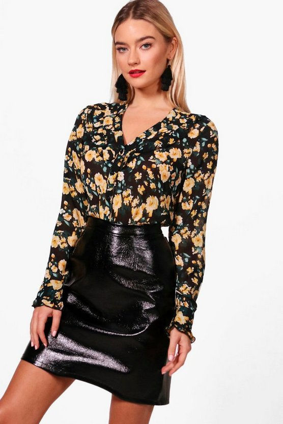 Orla Floral Ruffle Blouse