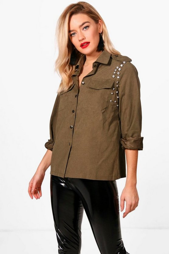 Imogen Military Embellished Shirt