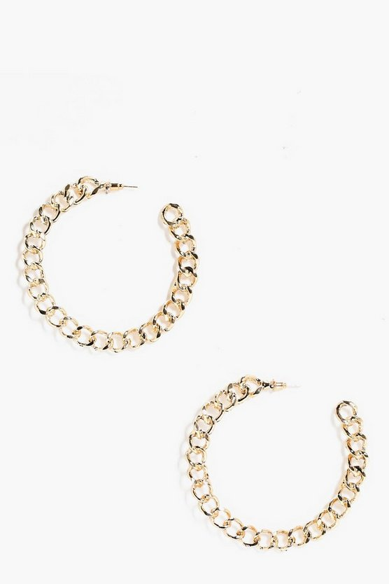 Daisy Chain Hoop Earrings