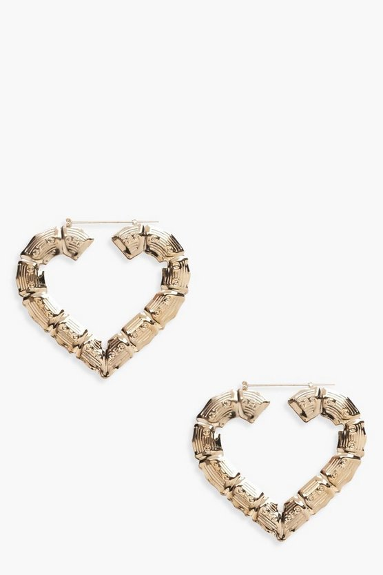 Millie Thick Heart Hoop Earrings