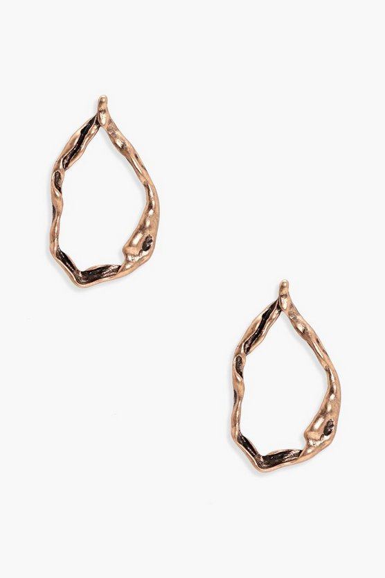 Cara Distressed Hoop Earrings