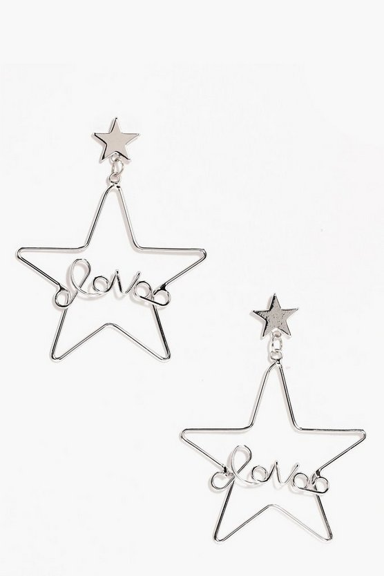 Alice Love Slogan Star Hoop