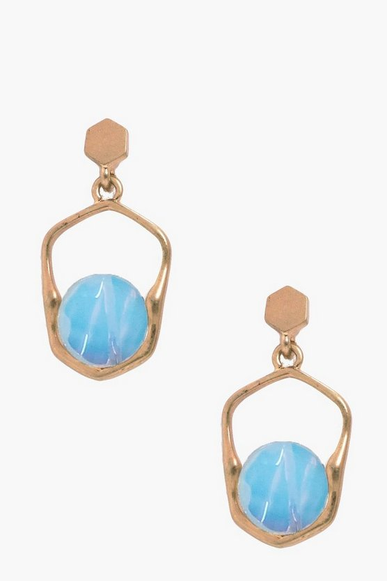 Charlotte Moonstone Holographic Earrings