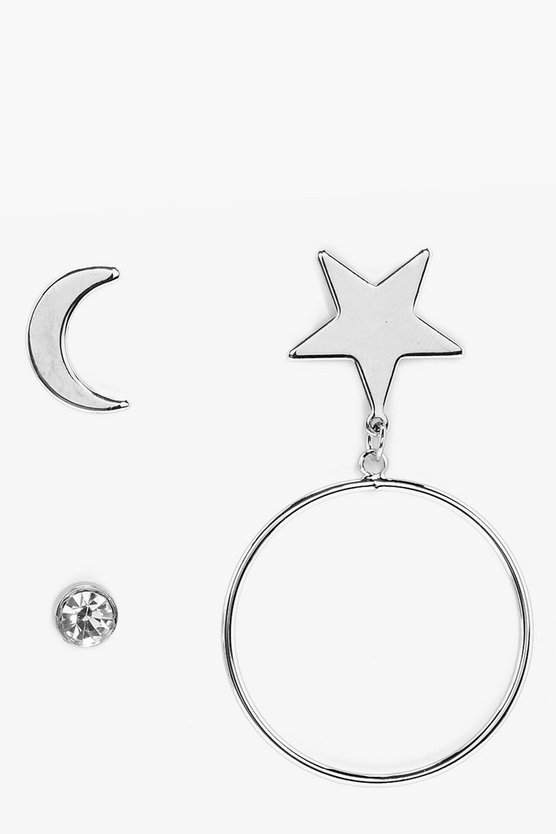 Uhura Star Hoop and Diamante Earrings