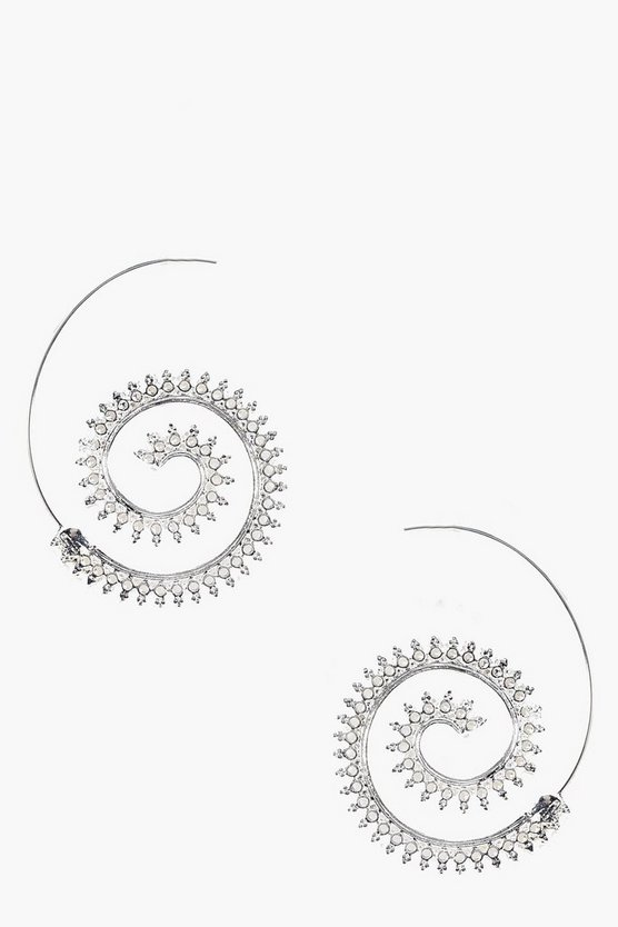 Louisa Boho Scroll Hoop Earrings