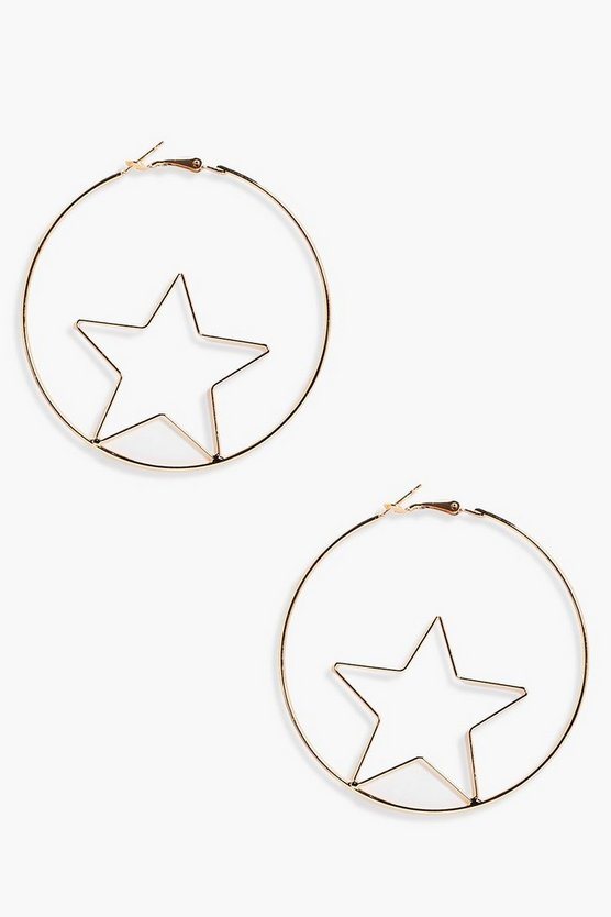 Carina Star In Hoop Earrings