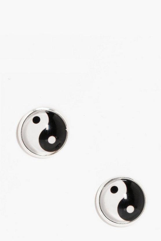 Elouise Ying Yang Stud Earrings