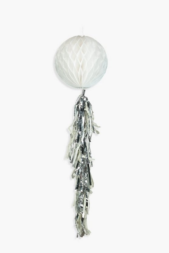 White Honeycomb Tassel Decoration