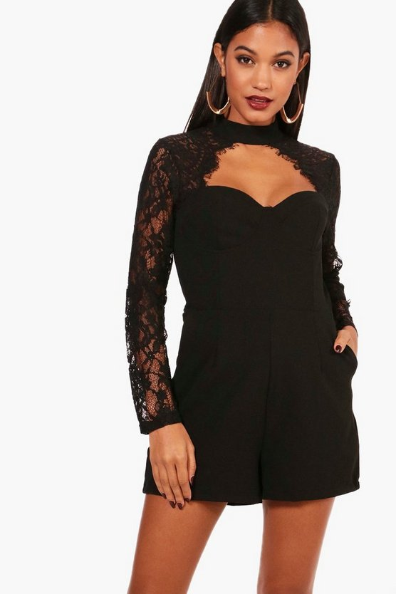 Marisa Lace Insert Playsuit