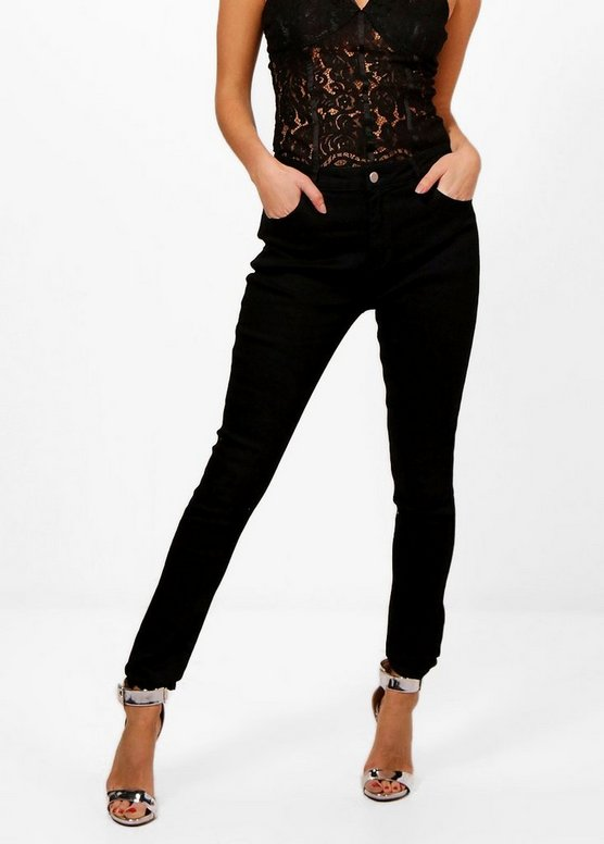 Alicia Mid Rise Skinny Jeans