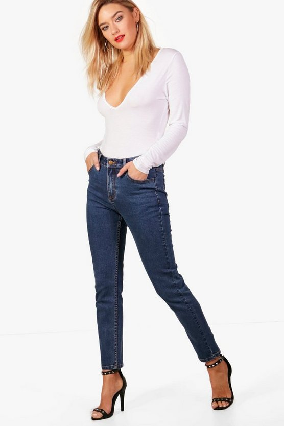 Nancy Mid Rise Straight Leg Jeans