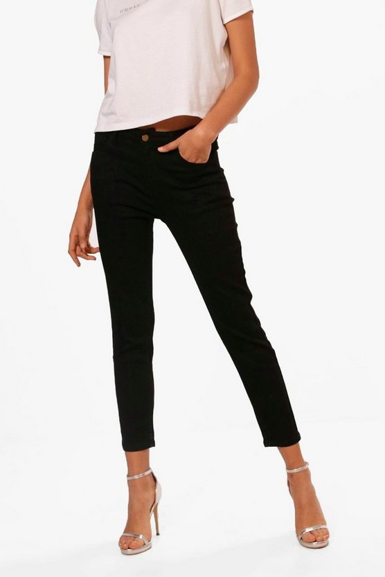 Nancy Mid Rise Cigarette Jeans