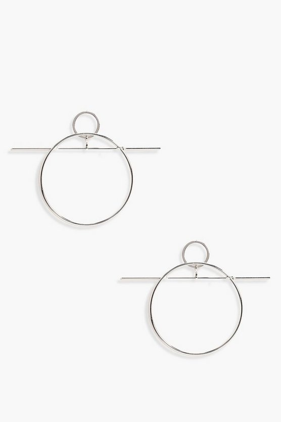 Amy Bar Detail Hoop Earrings