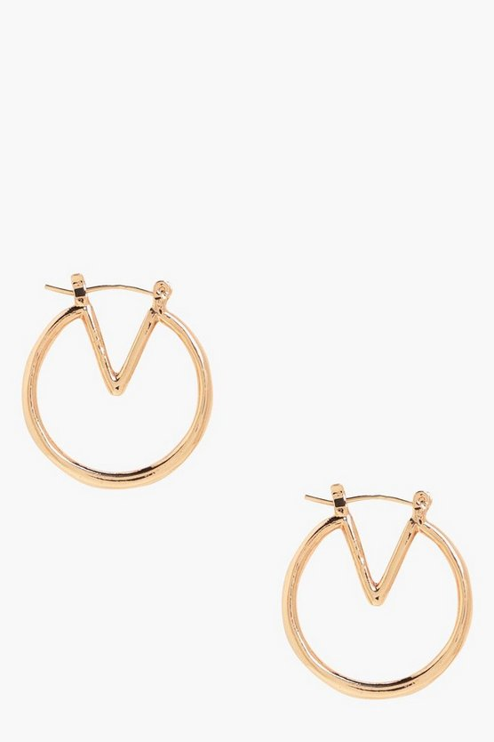 Freya Geo Hoop Earrings