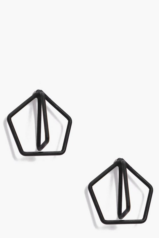 Erin Geo Design Stud Earrings