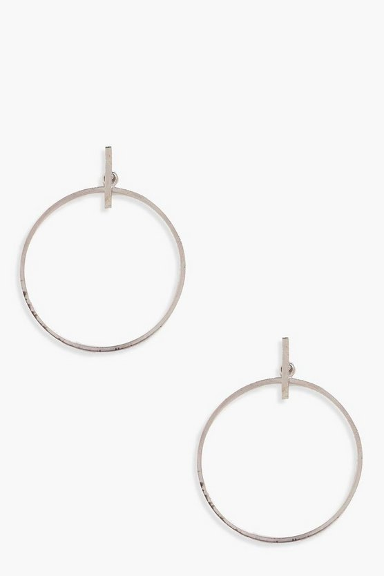 Georgia Bar Stud Hoop Earrings