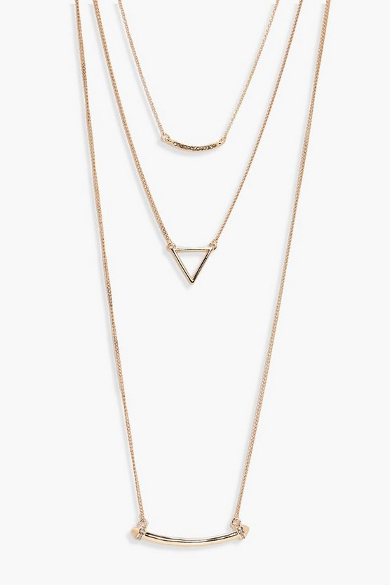 Este Layered Diamante Detail Necklace