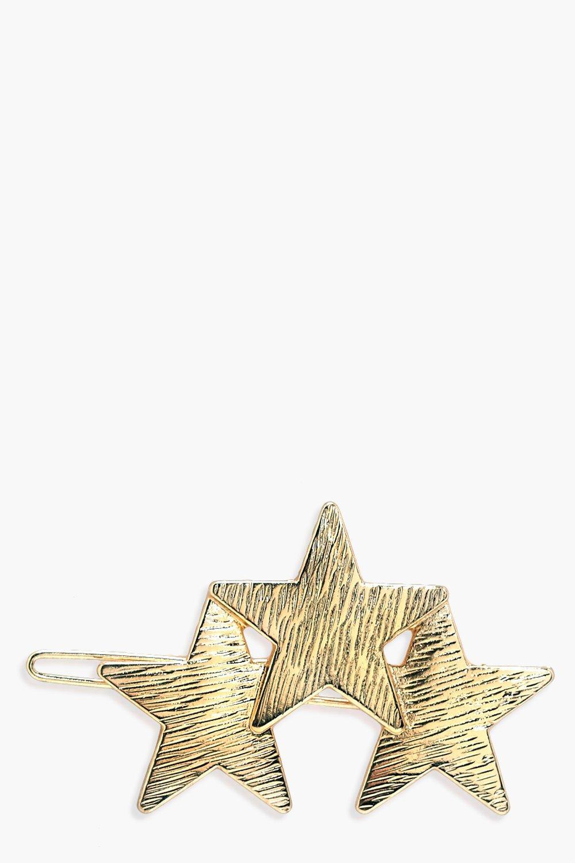 Triple Star Hair Clip - gold