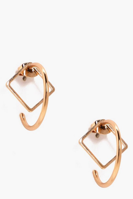 Evianna Diamond Stud Hoop Earrings