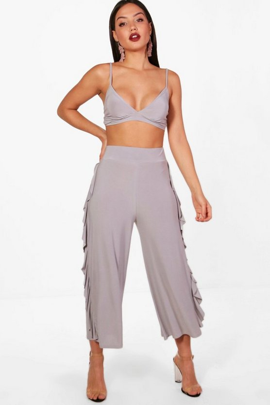 Willow Slinky Firll Culotte and Bralet Set