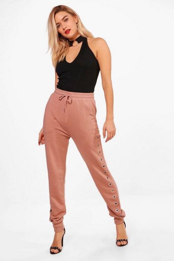 Imogen Eyelet Detail Loopback Joggers