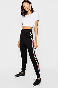 Katie Sports Stripe Loopback Joggers
