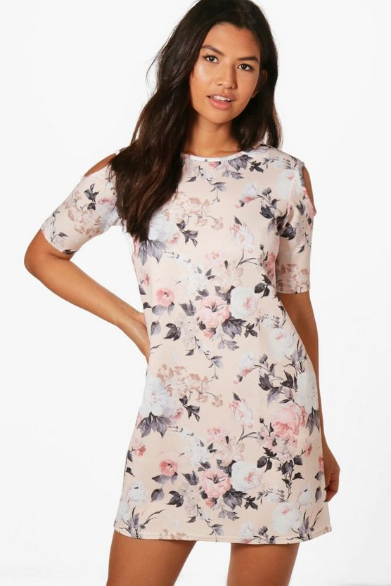 Georgina Cold Shoulder Shift Dress