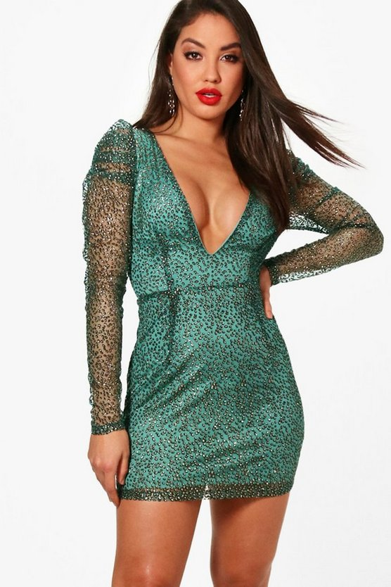 Boutique Aiyana Metallic Bodycon Dress