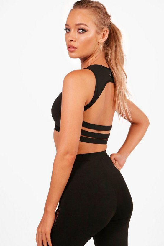 Amber Fit Medium Support Strappy Back Sports Crop
