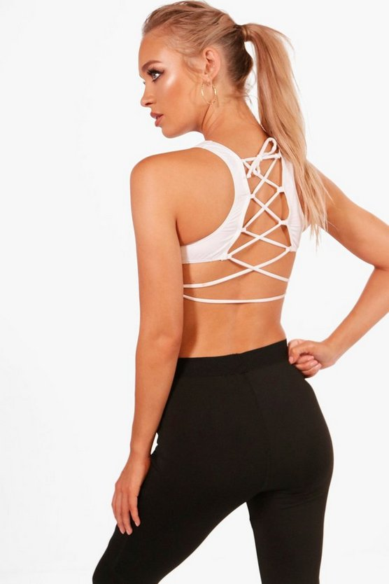 Lily Fit Lace Up Back Sports Crop