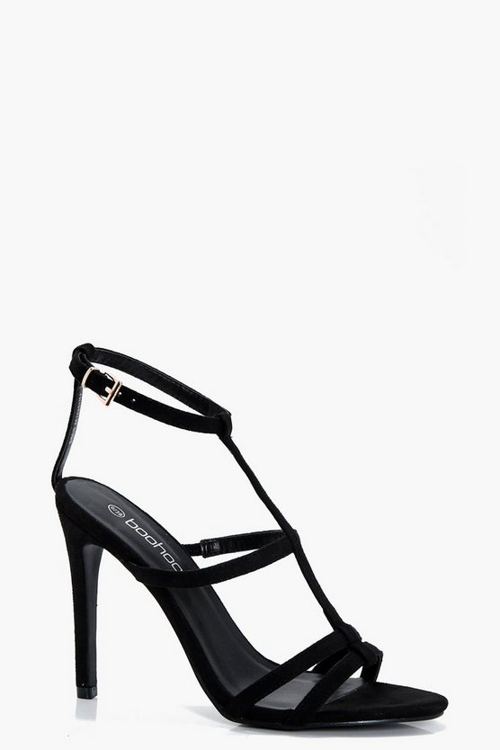Caged Strappy Heels