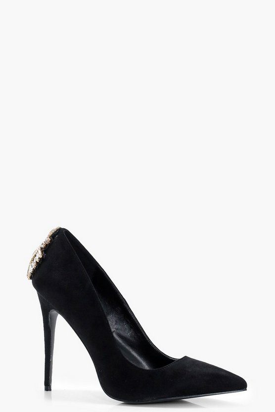 Lexi Embellished Heel Court Shoes