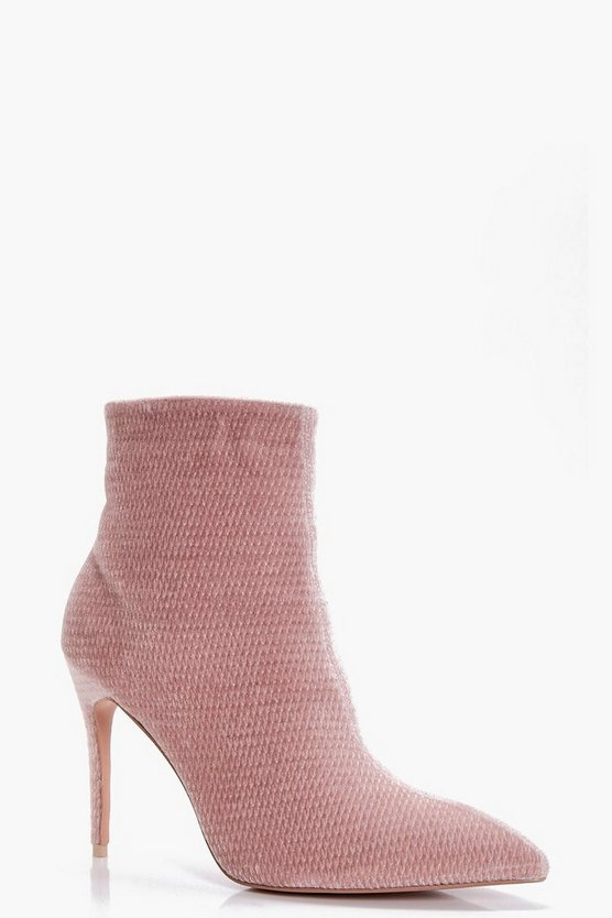 Charlotte Pointed Mid Heel Ankle Boot